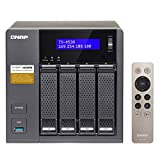 QNAP TS-453A-8G-US TS-453A (8GB Ram Version) 4-Bay Professional-Grade Network Attached Storage, Supports 4K Playback (TS-453A-8G-Us) Black/gray