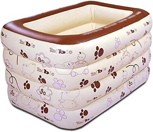 大人インフレータブルバスタブ肥厚の暖かい赤ちゃんインフレータブルプール折り畳み式のエアシャワー盆地シート浴場ビッグサイズ (Color : A, Size : 135cm/53.1in)
