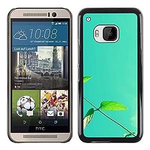 TopCaseStore / la caja del caucho duro de la cubierta de protección de la piel - Plant Nature Forrest Flower 13 - HTC One M9