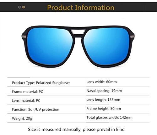 Driving MYLEDI De Fashion Gafas Polarizadas Brown Hombre Black TAC Material Metal Sol prrIax