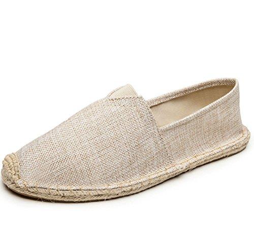 Colore a uomini uomo tessuto piede 40 scarpe alla pigro corda donne Linen di Un mano moda scarpa di e scarpe HAOYUXIANG scarpe dimensioni tela lino Nuove brown cucito ventilazione pedale wqZ0A4