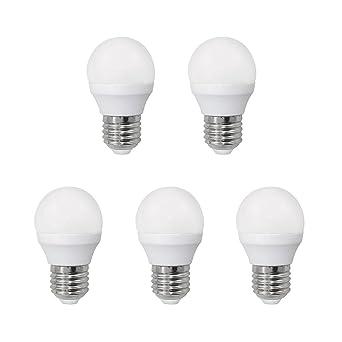 Wonderlamp W-B000064 - Pack 5 x Bombilla LED SMD alta potencia E27 esférica ,