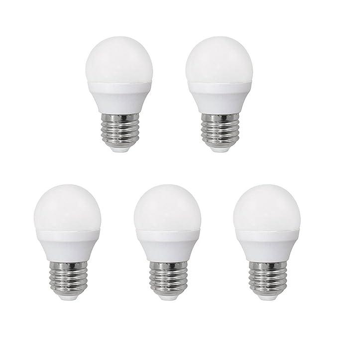 Bombilla LED esférica 6W (equivalente a 40W) Luz calida (3000K) no dimmable. E27. 470 Lm. 25000 horas de vida. Encendido ultrarrapido (encendido al 100 % en ...