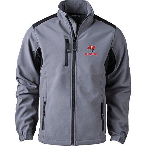 Tampa Bay Buccaneers Zippered Fleece - Dunbrooke Apparel NFL Tampa Bay Buccaneers Men's Softshell Jacket, 2X, Graphite