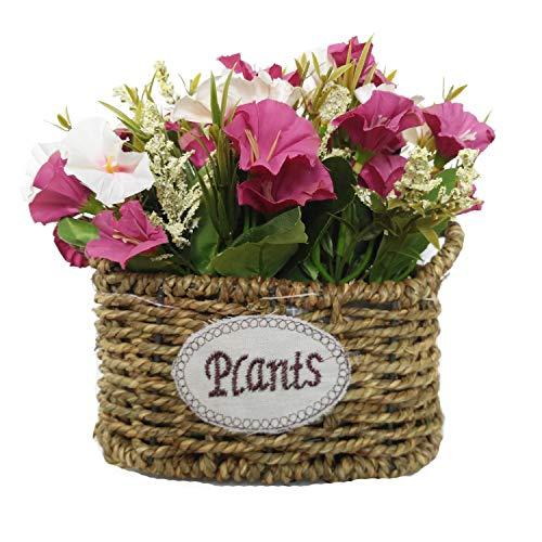 Cesta de flores de seda artificial, arreglos florales, centros de mesa de flores falsas, regalo para bodas, hogar, cocina, jardin, sala de estar, hotel, oficina, fiesta, decoraciones florales, negro