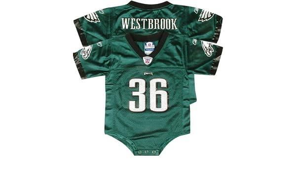 01805ea1 Amazon.com: Brian Westbrook Green Reebok NFL Philadelphia Eagles ...