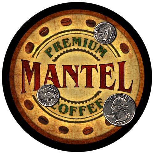 4 pack - Mantel Family Coffee Neoprene Drink Coasters