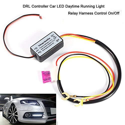 Fincos 2PC Car LED DRL Daytime Running Light//Turn Signal Light Controller