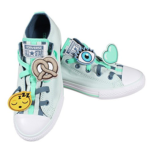 Converse Unisex-Kinder All Star Loopholes Sneaker Fiberglass Blue Coast White
