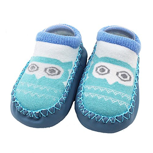 SMALLE ◕‿◕ Cartoon Newborn Baby Girls Boys Anti-Slip Socks Slipper Shoes Boots