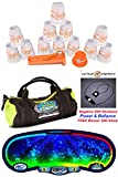 Speed Stacks The Works Custom Combo Set: 12 PRO Series ORANGE/CLEAR 4'' Cups, Cup Keeper, Quick Release Stem, Pro Timer, Gen 3 Mat, Gear Bag + Active Energy Necklace $49 Value
