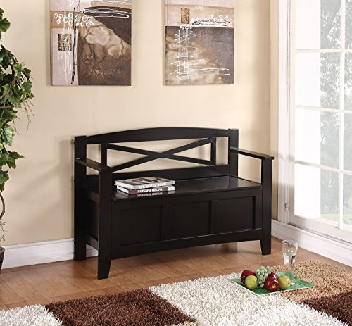 Office Star Metro Entry Way Bench in Black