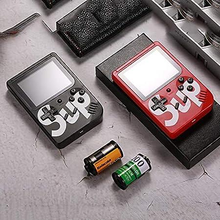 REFURBISHHOUSE Console di Gioco Portatile,Console di Gioco Retro FC,Console di Videogiochi Sistema di Intrattenimento con 3 Giochi Classici 300 Pollici Rosso Regalo di Compleanno per Bambini