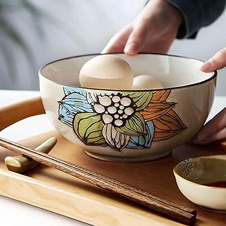 XWCPDM Plato Pasta Cereales Dieta Utensilios Cubiertos Cerámica Tazón Rinoceronte Postre Ensalada Plato Restaurante Restaurante Familiar Cuenco: Amazon.es: Hogar
