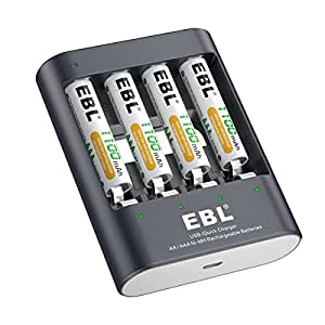 Amazon.com: EBL 40min iQuick USB Battery Charger with AAA