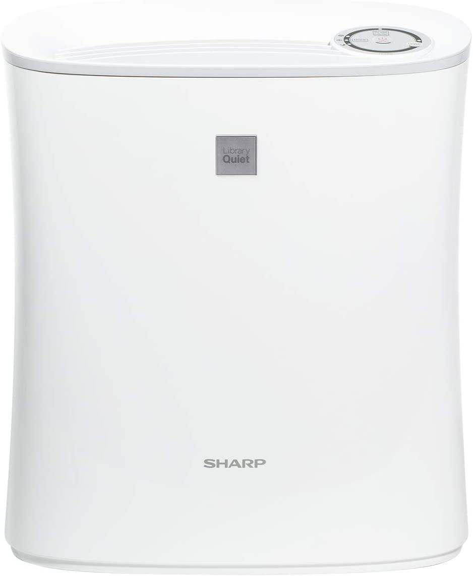 Sharp, White FPF30UH True HEPA Air Purifier for Home Office or Small Bedroom with Express Clean. Filters Last up-to 2 Years for Dust, Smoke, Pollen, Pet Dander, 143 Square Feet