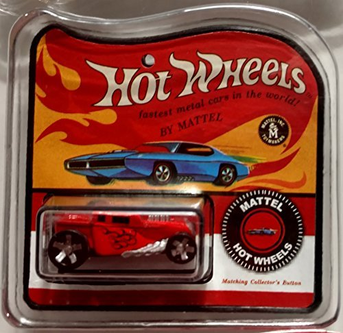 Worlds Smallest Hot Wheels Red Bone Shaker Miniatures Diecast in Retro Package