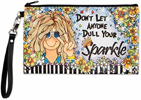 Brownlow Gifts Zippered Bag, Don t Let Anyone Dull Your Sparkle