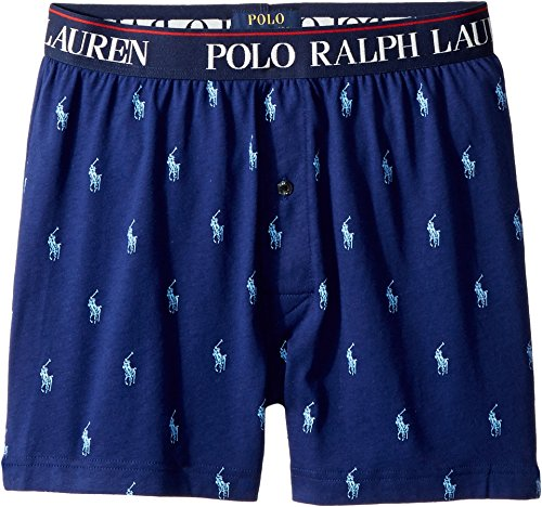 Polo Ralph Lauren  Men's All Over Pony Player Slim Fit Knit Boxer Fall Royal All Over Pony Print Medium -