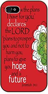 For I know the plans I have for you, declares the Lord - Bible verse iPhone 5 / 5s black plastic case - Jeremiah 29:11