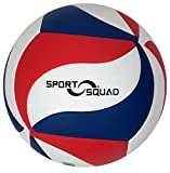 Sport Squad Volleyball Designed for Volleyball Training Machines – Regulation Size and Weight – Durable Japanese Leather Construction - Comes with Drawstring Carrying Bag and Inflation Needle