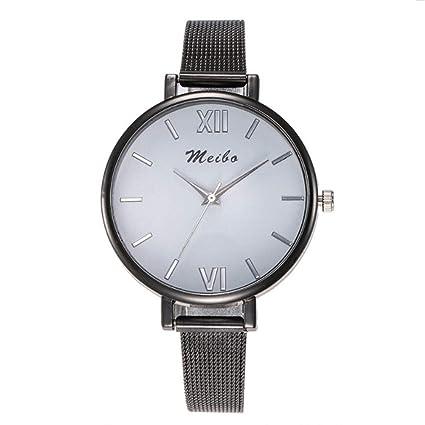 Filfeel Reloj Simple y Elegante, Malla Fina con Esfera Grande, no Impermeable, para