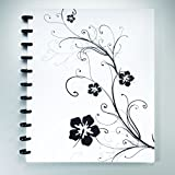 Staples Arc Customizable Hibiscus Design Notebook System, Black & White, 11 in x 8.5 in