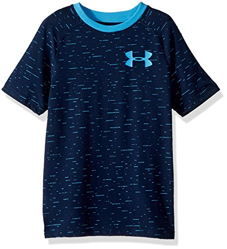 Under Armour Boys' Cotton Knit Short Sleeve Shirt, Academy (408)/Canoe Blue, Youth X-Large