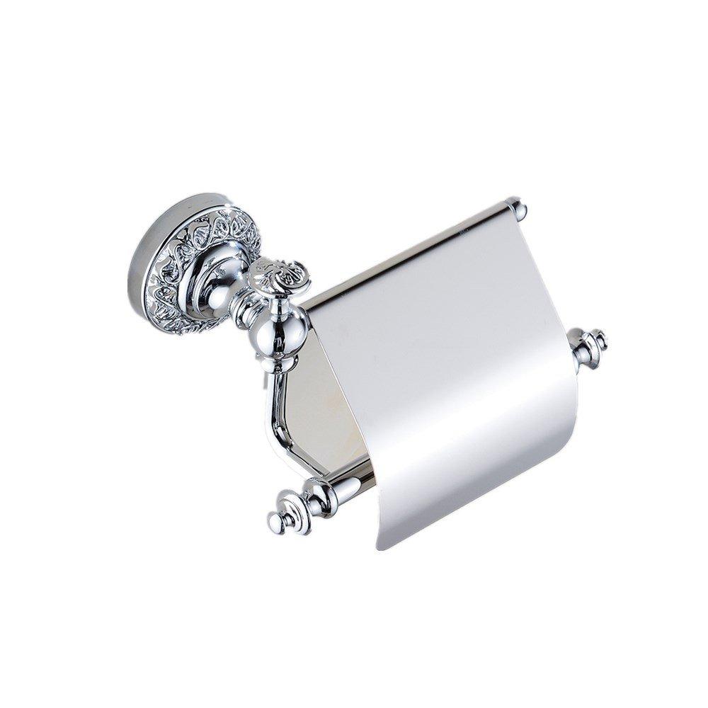 Sanlucky Full Copper Geschnitzten Papiertuchhalter Papiertuchhalter Papiertuchhalter Rollenhalter Badezimmer Handschale, Reines Kupfer Badzubehör, Silber, Gebohrt B07FYBSSV4 Toilettenpapieraufbewahrung 02d2fc