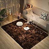 Fuzzy Abstract Area Rugs for Bedroom Living Room