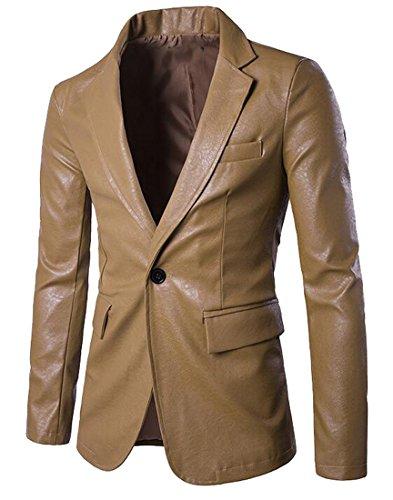 Vogue Leather Blazer - 5