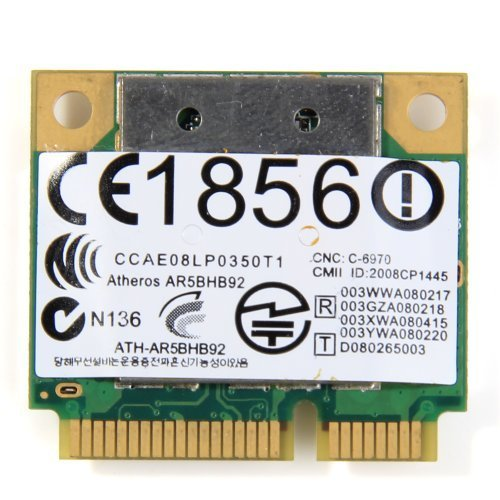 Atheros 9280 Abgn Half Size Wireless Card 300Mbps Ar9280 AR5BHB92 Dual-band 2.4GHz and 5GHz 802.11a/b/g/n by Atheros