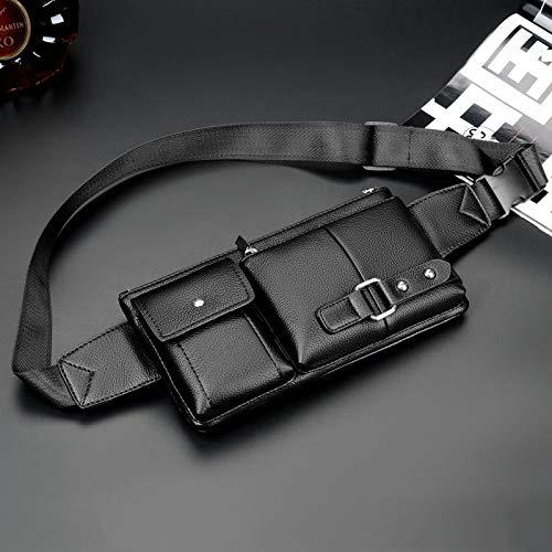 27cm x 15cm x 1cm Outside Bag MUMUWU Sizing: L Color : Brown Universal Outside Men Shoulder Messenger Bags Retro Men Waist Bag
