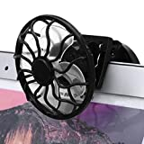 Portable Solar Fan With Clip On Sun Power Energy Cooler For Summer Travel Camping By Makaor (Panel Size: 55mm Fan Diameter: 60mm, Black)