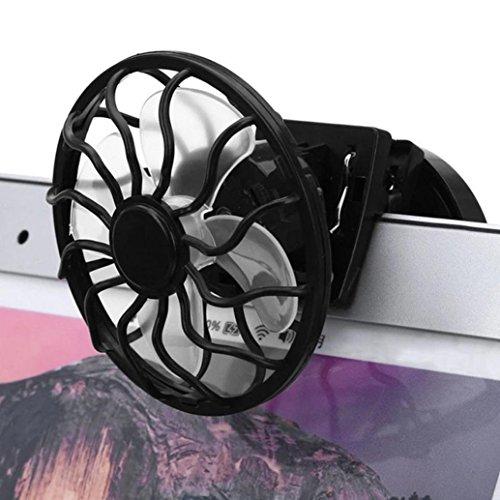 Portable Solar Fan With Clip On Sun Power Energy Cooler For Summer Travel Camping By Makaor (Panel Size: 55mm Fan Diameter: 60mm, Black) (Fan Solar Clip)