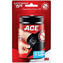 ACE Black Elastic Bandage with Clip, 4 Inch