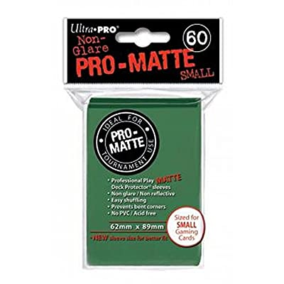 Ultra Pro PRO-Matte Small Deck Protector Sleeves for Yu-Gi-Oh & Cardfight Vanguard!! - Green (60 ct.): Toys & Games