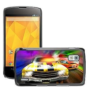 Print Motif Coque de protection Case Cover // V00002590 Coches de carreras // LG Nexus 4 E960