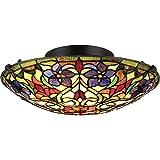 Quoizel TFVT1617VB Violets Flush Mount Ceiling Lighting - 2-Light - 150 Watts - Vintage Bronze (6