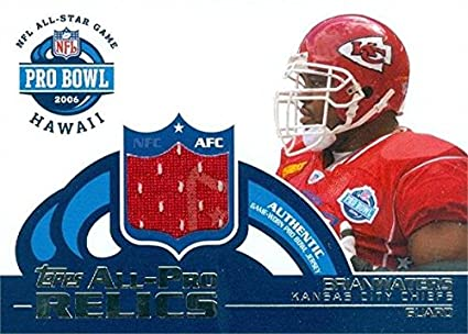 check out bcb21 59313 Brian Waters player worn jersey patch football card (Kansas ...