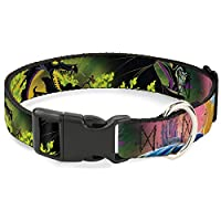 Buckle-Down Sleeping Beauty & Maleficent/Maleficent Dragon Scenes Plastic Clip Collar, Narrow Small/6-9""