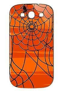 Case Fun Samsung Galaxy S3 (I9300) Case - Vogue Version - 3D Full Wrap - Halloween Spiders Web