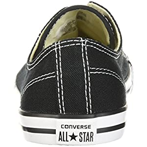 Converse Women's Dainty Canvas Low Top Shoe, black, 9 M US