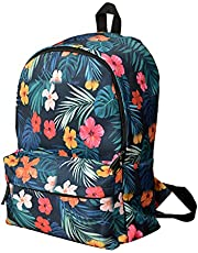 Casual Backpack With Front Zipper Pocket - Multicolor