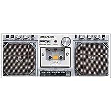 J.P. London PAN5148 uStrip Retro Tape Boom Box Ghetto Blaster High Resolution Peel Stick Removable Wallpaper Sticker Mural, 48-Inch Wide by 19.75-Inch High