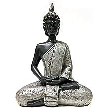 "Bellaa 23293 Thai Buddha Meditating Peace Harmony Statue, 8"" H"