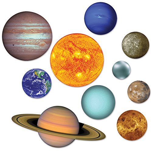 Beistle Solar System Cutouts (Prtd 2 Sides) RED, BLUE -