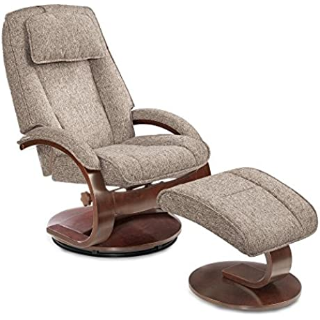 Mac Motion Oslo Recliner With Ottoman In Charcoal
