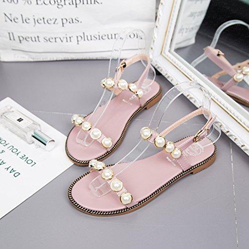 Sandalias Wild Planas Y Pink Femenina Mujer Informal Con Sandalias Plano Figura WHLShoes Confort Para Sweet Con Chanclas Verano Zq4Zd1