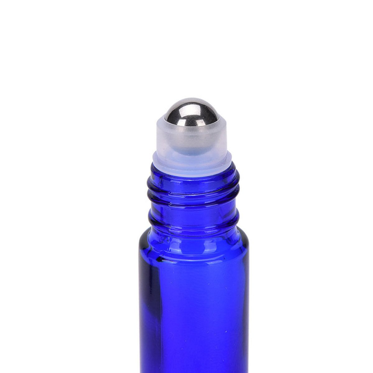 YAMU 10ML Cobalt Blue Glass Roll-on Bottles With Stainless Steel Roller Balls 24pcs